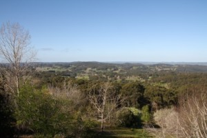 The Adelaide Hills as seen from the Mount Lofty Botanic Gardens